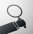 magnifying glass Stock vector image vector image