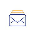 mail line icon new messages correspondence sign vector image