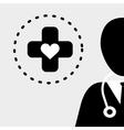 Medical design Care icon Health concept vector image vector image