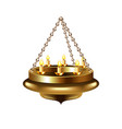 Medieval chandelier on chain isolated vector image vector image