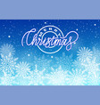 merry christmas postcard with snowflakes isolated vector image vector image