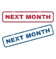 Next Month Rubber Stamps vector image vector image
