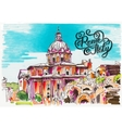 original marker painting of Rome Italy cityscape vector image