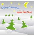 Paper Christmas tree Christmas background vector image vector image
