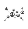 people network and social icon vector image vector image