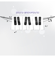 Piano keyboard concept background vector image vector image