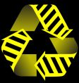 recycle and construction icon vector image vector image