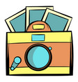 retro camera icon cartoon vector image vector image