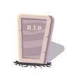 rip gravestone isolated cartoon icon vector image