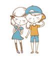 romantic love couple cute vector image