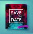 save the date announcement card template vector image