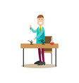 science people concept flat vector image vector image