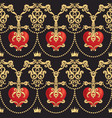 seamless damask pattern with beautiful ornamental vector image vector image