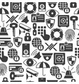 security and protection seamless pattern with thin vector image