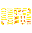 Set of beautiful festive colored yellow ribbons vector image vector image