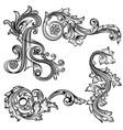 set swirls in vintage style vector image vector image