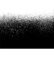 sprayed paint gradient detail in white over black vector image vector image