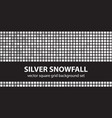 square pattern set silver snowfall seamless tile vector image