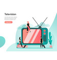 television concept modern flat design concept of vector image