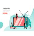 television concept modern flat design concept vector image