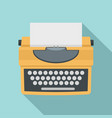 typewriter with shadow icon flat style vector image vector image