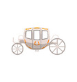 vintage brougham wedding carriage vector image
