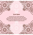 Vintage card template with floral ornament vector image