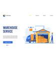 warehouse service cartoon vector image vector image