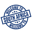 welcome to south africa blue stamp vector image vector image