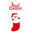 Cute Santa Claus in socks vector image