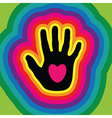 hands love vector image