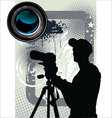 Photographer background vector image