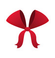 red bow ribbon decoration xmas celebration vector image