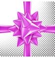3d bow ribbon beautiful bright ribbon vector image