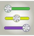 Web User Interface Set - Sliders vector image