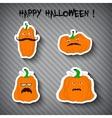 Halloween pumpkins - stickers vector image