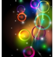 Abstract colorful background on black vector image vector image
