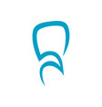 abstract dental logo on white background vector image vector image