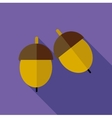 Acorn icon flat style vector image vector image