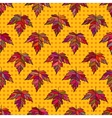 Autumn seamless leaf pattern 9 vector image vector image