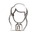 blurred thick silhouette caricature faceless side vector image vector image