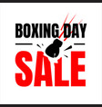 boxing day sale letter for banner web banner vector image vector image