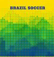 brazil soccer design vector image vector image