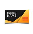 business card orange and black background i vector image
