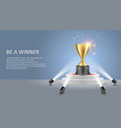 business sport winner poster web banner vector image