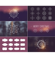 Christmas retro vintage card vector image vector image