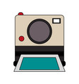 color image instant photo camera vector image vector image