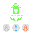 Concept of a cozy home with sample text and icons vector image vector image