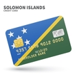 Credit card with Solomon Islands flag background vector image vector image