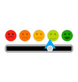 credit mood indicator with smile face vector image vector image